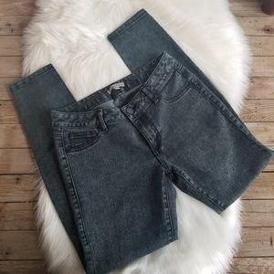 CAbi black acid wash jeans
